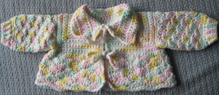 New Handmade Baby Sweater - Pastels, 3 months (Item # IS0003) 100% cotton, matches IB0005 & IH0003