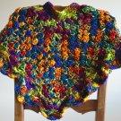New Handmade Girls Scalloped Poncho sz 4-7 (item# PC0004), Mexicana, 100% Acrylic, Machine wash