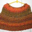 Handmade Girls Capelet , Color: Harvest size 4-6 (item # PC0010), Acrylic blend, Machine wash