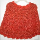 New Hand Crocheted Ladies Capelet Flame (item # PL0003) - One size fits all