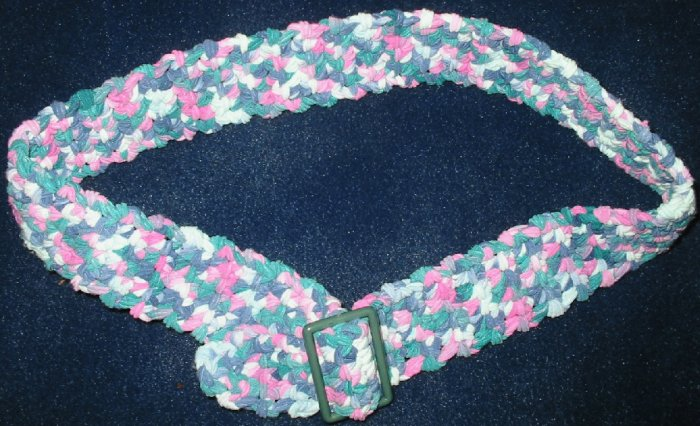 """New Hand Crocheted Belt, Color: Monet - Fits up to 28"""" waist - (item # XB0002)"""