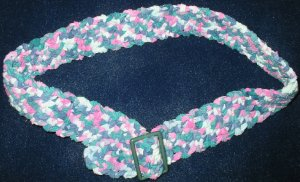 "New Hand Crocheted Belt, Color: Monet - Fits up to 28"" waist - (item # XB0002)"