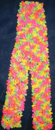 "New Hand Crocheted Scarf  - 54"" long - Color: Carnival  (item #ST0007)"