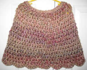 New Hand Crocheted Girls Capelet, Color: Quartz, size 4-7, Acrylic/polyester blend, Machine wash
