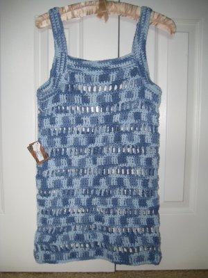 Hand Crocheted Ladies Cotton Tunic Top (item # CL0001) Ladies Small/Medium