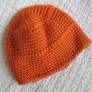 New Hand Crocheted Baby Hat - Tangerine (Item # IH0004)  - 100% Acrylic