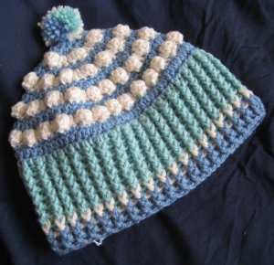"Hand Crocheted ""Popcorn"" Hat - Adult Average (item # SH0012) - 100% Acrylic"