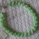Hand Crocheted Glass Bead Necklace - Light Green