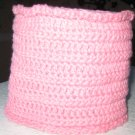 Hand Crocheted Toilet Tissue Cover (item # HB0011) - Rose Pink 100% Cotton - Machine Wash