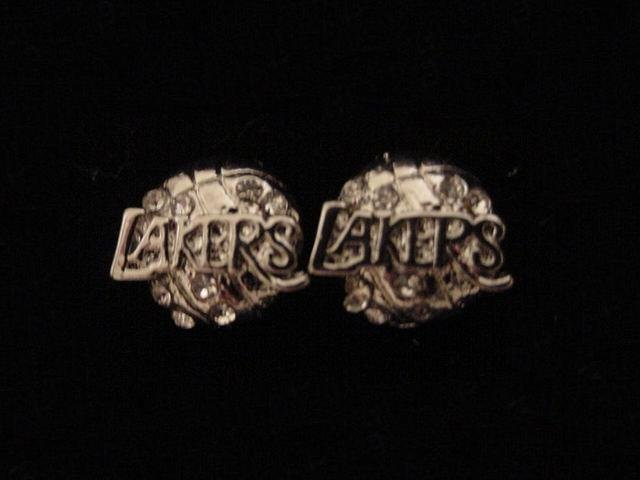 Quadruple Silver Plate Lakers Logo Earrings