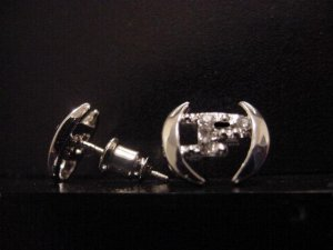 Silver Plate Phat Farm Earrings