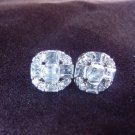 Quadruple Silver Plate Round Earrings