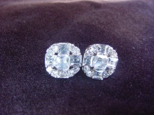 Quadruple Silver Plate Round Earrings