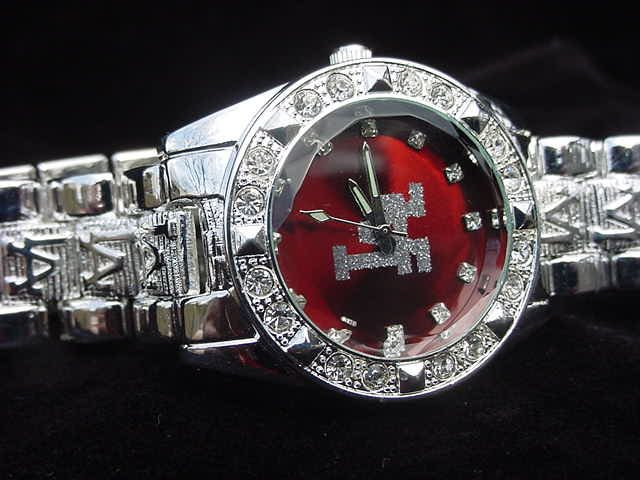 Paved LA - red background Watch