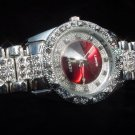 Red Background Bling Watch