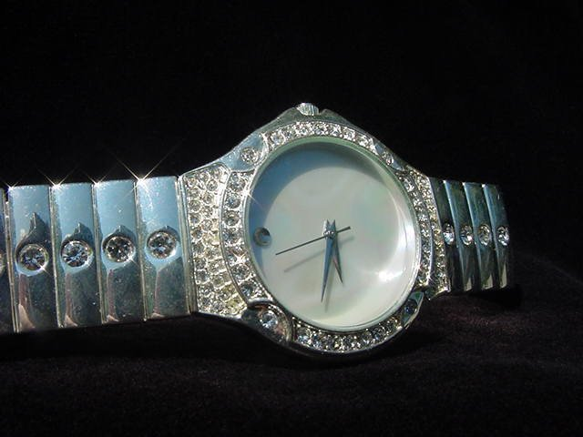 Mother-of-Pearl Bling Watch