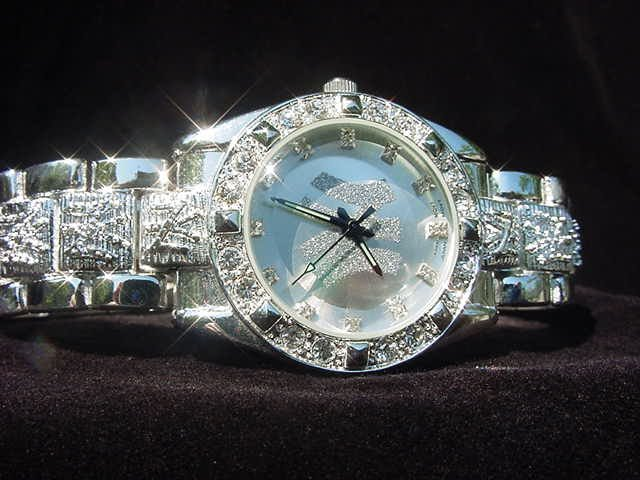 Paved NEW YORK - silver background Watch