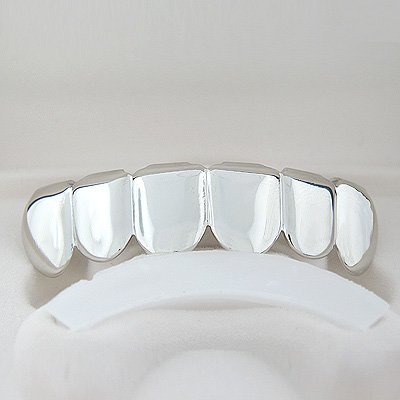 Silver-Style Playa Grillz
