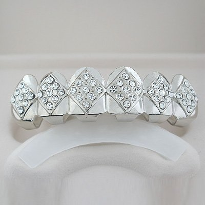 Fifty-Four points Ice Silver Playa Grillz