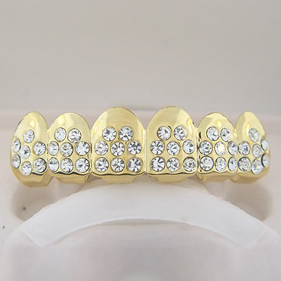 Fort-Eight Points of Ice Gold Plated Playa Grillz