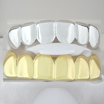 Golden & Silver Top & Bottom Grillz Combo