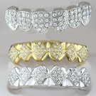 Fullness & Fifty Four Points Of Rhodium & Golden Top & Bottom Interchangeable Grillz Combo