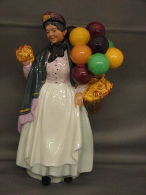 Royal Doulton HN1843 Biddy Pennyfarthing Lady Figurine