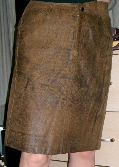 LIZWEAR LIZ CLAIBORNE Brown Leather Skirt Size Sz 8/10