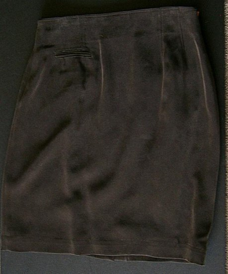 CLEARANCE DANA BUCHMAN Brown 100% Sandwashed Silk Skirt 8