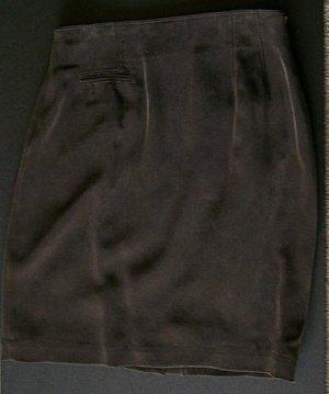 CLEARANCE DANA BUCHMAN Brown 100% Sandwashed Silk Skirt 8