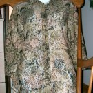 CHICOS DESIGNS Brown Autumn Lace Top/Shirt Size/Sz 0!