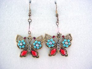 South Western Butterfly Earrings