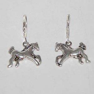 silver ponies earrings