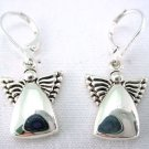 Silver angel earrings