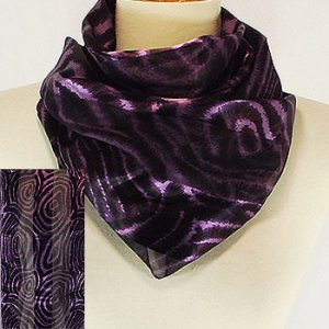 Deep Purple Swirl Scarf