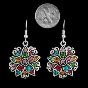 Multicolor Swarovski Crystal Earrings