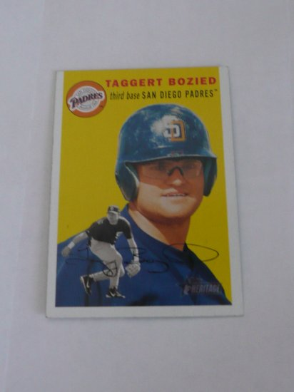 Taggert Bozied Baseball Card