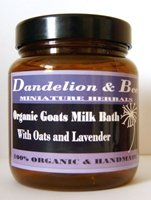 Organic Goats' Bathing Milk with lavender & oats