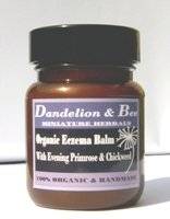 Organic eczema balm with evening primrose and chickweed