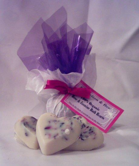 Organic Rose & Jasmine Hearts