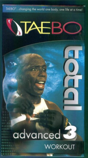 TAEBO TOTAL ADVANCED 3 WORKOUT Tae Bo Fitness Vhs Tape Video