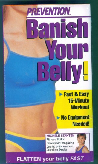 Prevention Banish Your Belly Fitness Vhs Tape Video NIP