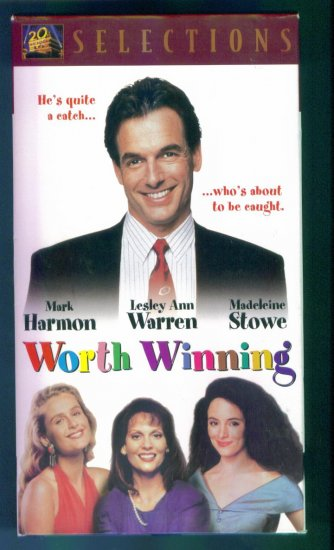 Worth Winning ~ Mark Harmon Lesley Ann Warren Madeleine ~ Romantic Comedy Vhs Tape Video