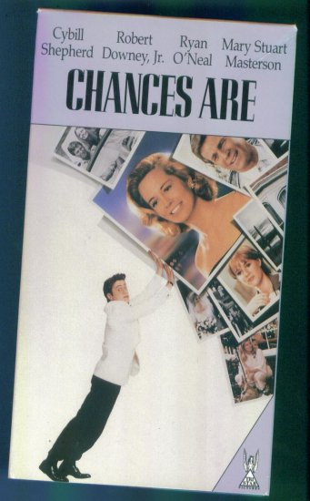 Chances Are ~ Cybill Shepard Robert Downey Jr. Ryan O'Neal ~ Romance Vhs Tape Video