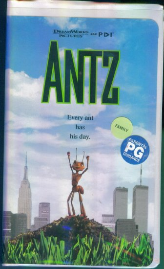 Antz ~ Dreamworks Pictures and PDI ~ Family Animation Vhs Tape Video