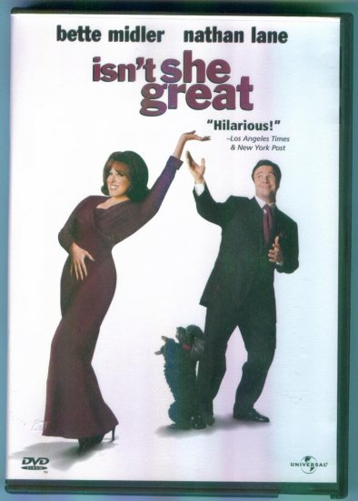 Isn't She Great ~ Bette Midler Nathan Lane ~ Comedy DVD
