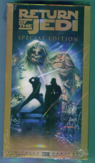 Return of The Jedi Special Edition  Mark Hamill Harrison Ford Carrie Fisher ~ Sci Fi Vhs Tape Video