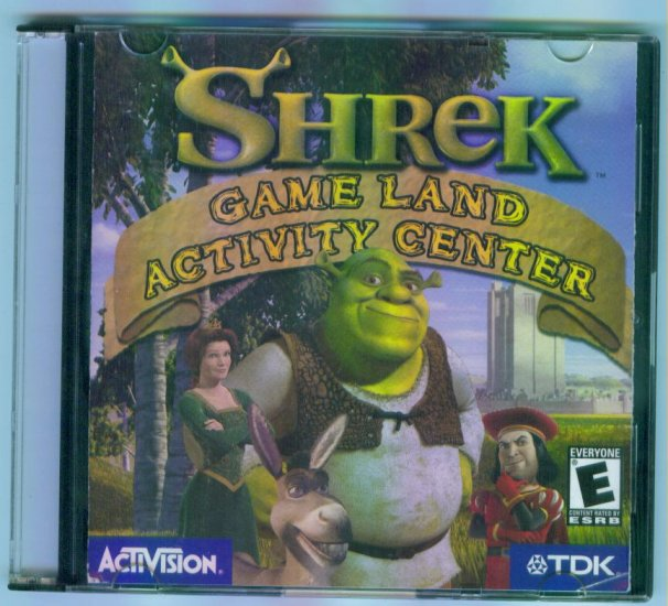 SHREK GAME LAND ACTIVITY CENTER Computer Software CD ~ Activision