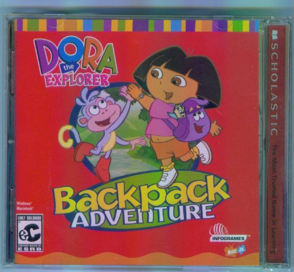 Nick Jr DORA THE EXPLORER BACKPACK ADVENTURE  Computer Software CD  Infogrammes Win Mac