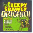 CREEPY CRAWLY ORIGAMI Make 4 Critters Spider Cockroach Grasshopper Praying Mantis locationO6
